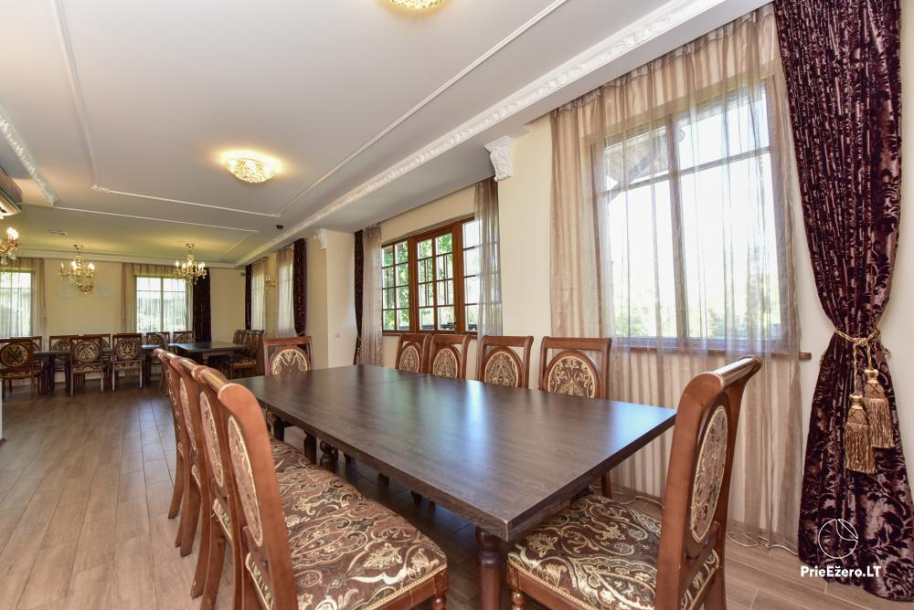 Villa for rest and celebrations - Spa Villa Trakai: hall, Jacuzzi and sauna, accommodation - 19
