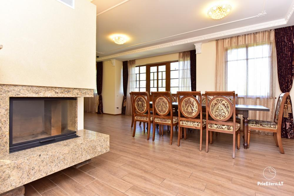 Villa for rest and celebrations - Spa Villa Trakai: hall, Jacuzzi and sauna, accommodation - 18