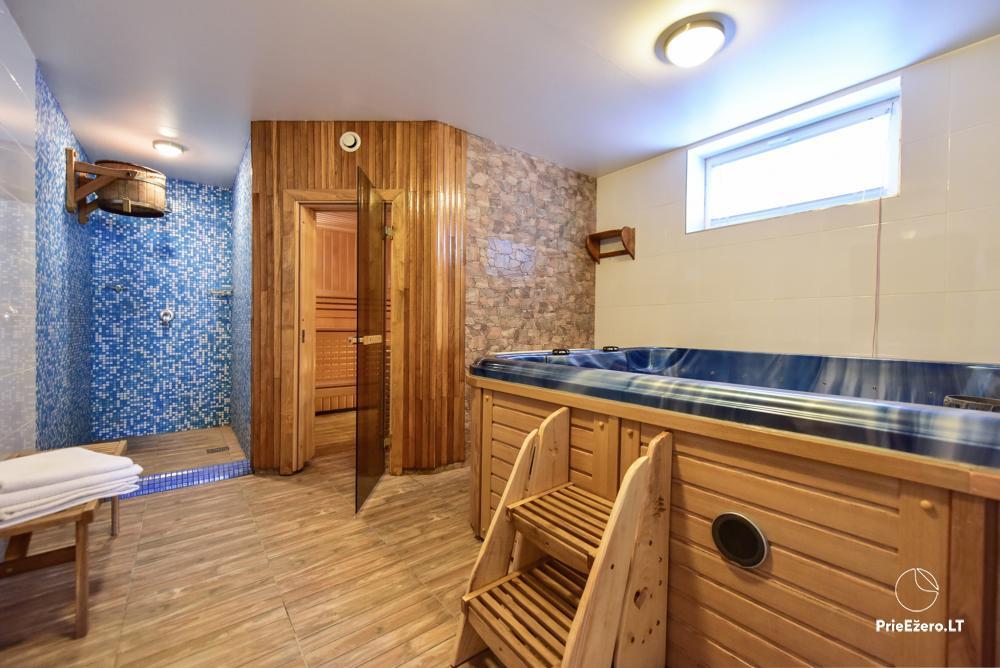 Villa for rest and celebrations - Spa Villa Trakai: hall, Jacuzzi and sauna, accommodation - 48