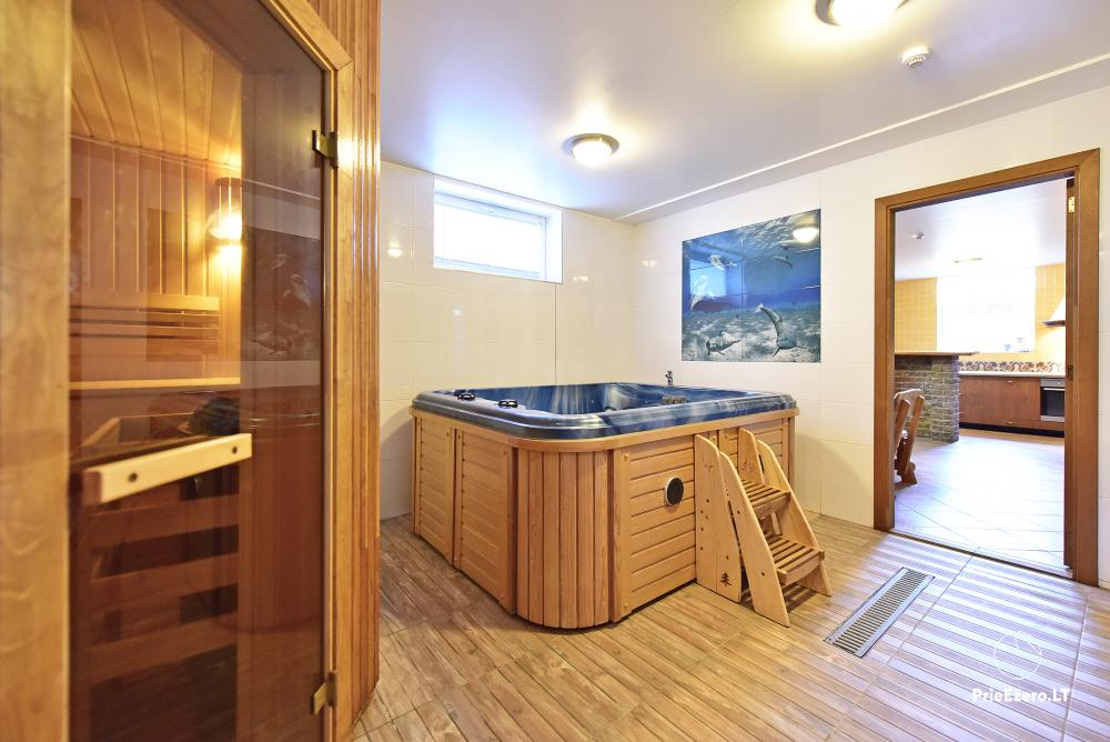 Villa for rest and celebrations - Spa Villa Trakai: hall, Jacuzzi and sauna, accommodation - 47
