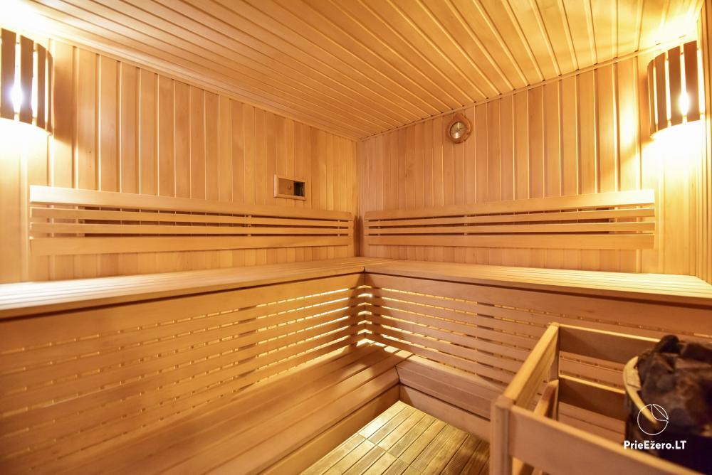Villa for rest and celebrations - Spa Villa Trakai: hall, Jacuzzi and sauna, accommodation - 50