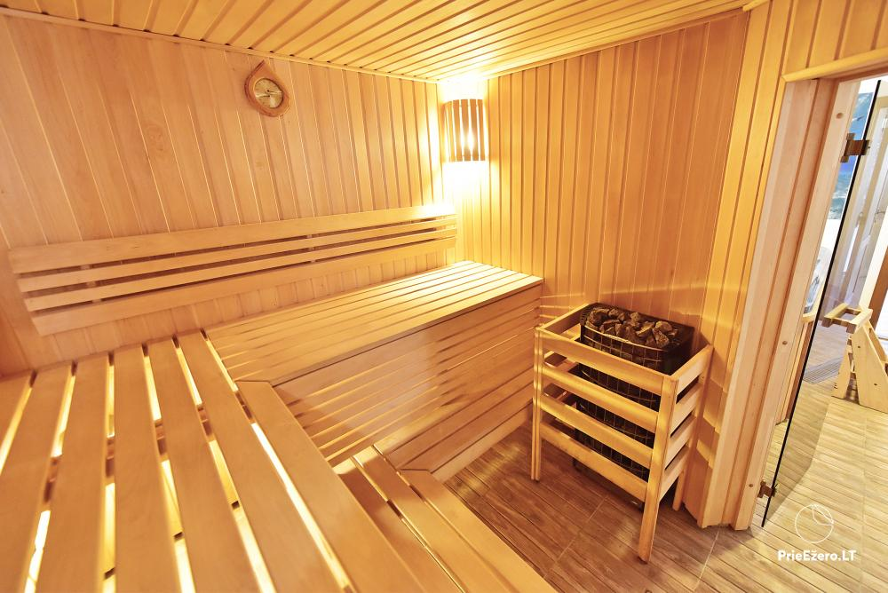 Villa for rest and celebrations - Spa Villa Trakai: hall, Jacuzzi and sauna, accommodation - 49