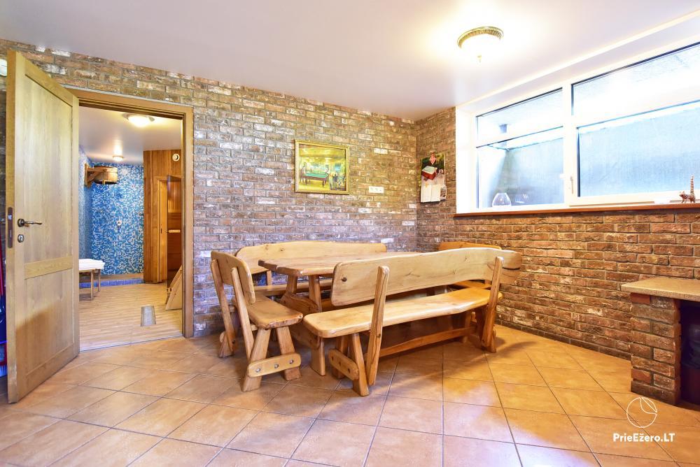 Villa for rest and celebrations - Spa Villa Trakai: hall, Jacuzzi and sauna, accommodation - 46