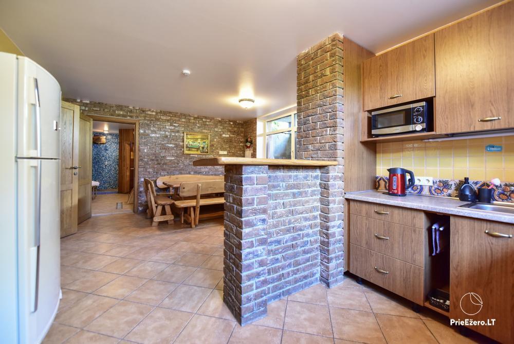 Villa for rest and celebrations - Spa Villa Trakai: hall, Jacuzzi and sauna, accommodation - 44