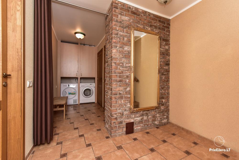 Villa for rest and celebrations - Spa Villa Trakai: hall, Jacuzzi and sauna, accommodation - 41