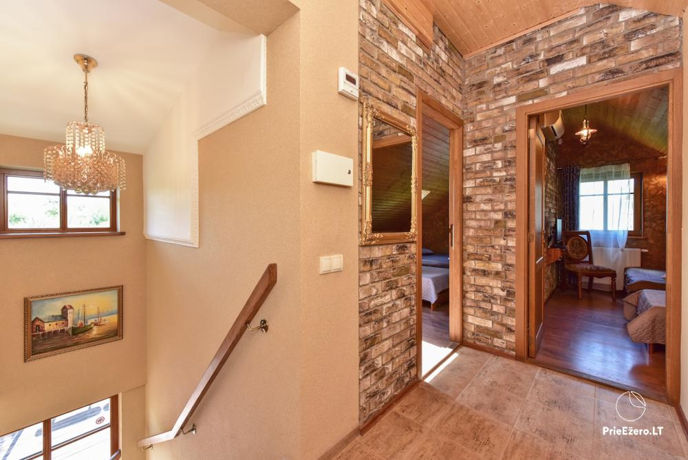 Villa for rest and celebrations - Spa Villa Trakai: hall, Jacuzzi and sauna, accommodation - 22