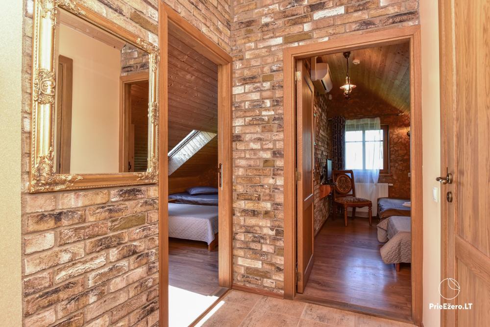 Villa for rest and celebrations - Spa Villa Trakai: hall, Jacuzzi and sauna, accommodation - 21