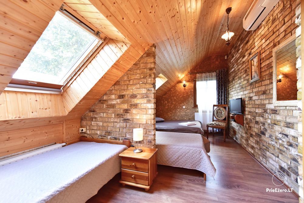 Villa for rest and celebrations - Spa Villa Trakai: hall, Jacuzzi and sauna, accommodation - 36