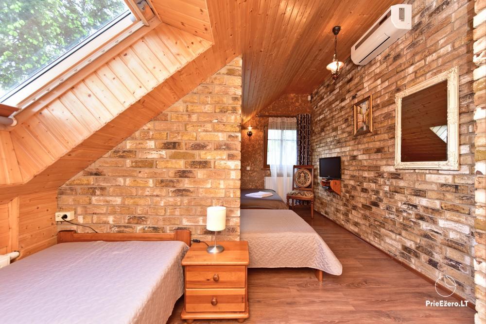 Villa for rest and celebrations - Spa Villa Trakai: hall, Jacuzzi and sauna, accommodation - 34