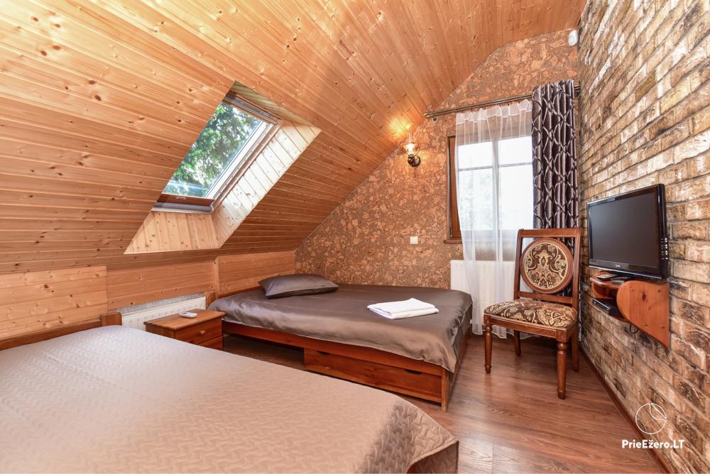 Villa for rest and celebrations - Spa Villa Trakai: hall, Jacuzzi and sauna, accommodation - 32