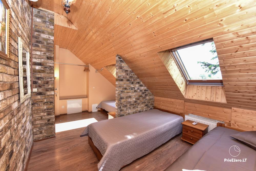 Villa for rest and celebrations - Spa Villa Trakai: hall, Jacuzzi and sauna, accommodation - 33
