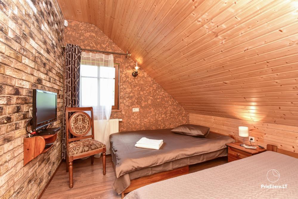 Villa for rest and celebrations - Spa Villa Trakai: hall, Jacuzzi and sauna, accommodation - 37
