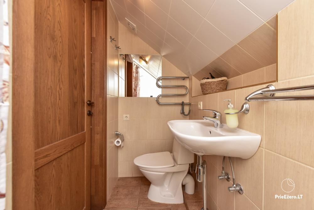 Villa for rest and celebrations - Spa Villa Trakai: hall, Jacuzzi and sauna, accommodation - 40