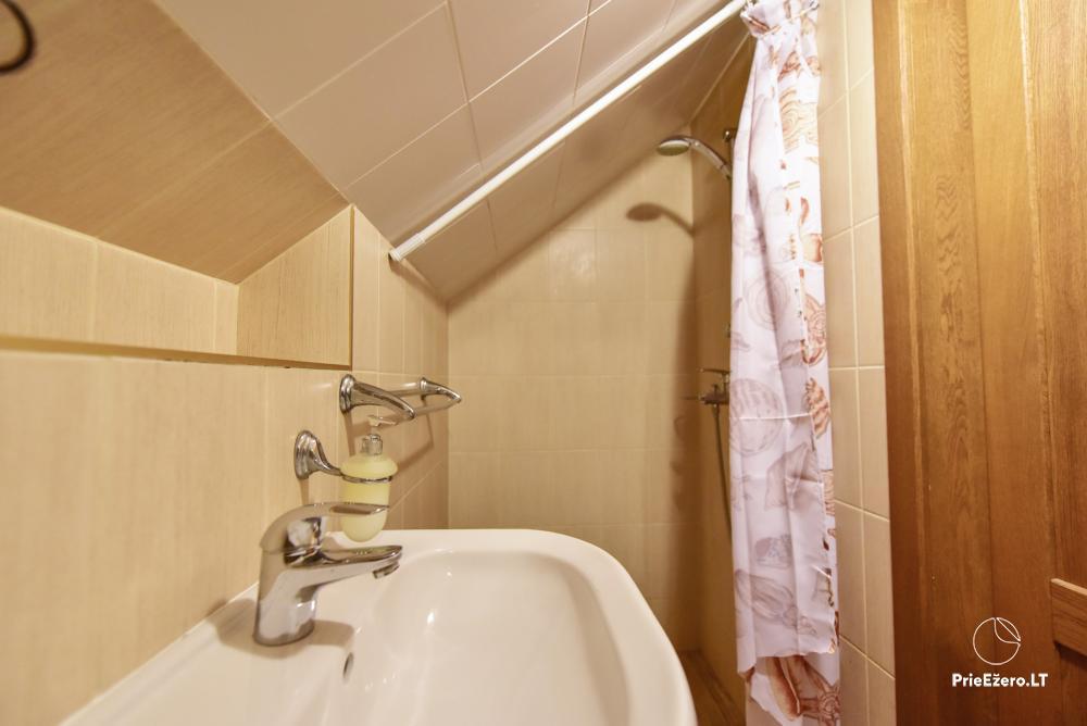 Villa for rest and celebrations - Spa Villa Trakai: hall, Jacuzzi and sauna, accommodation - 39