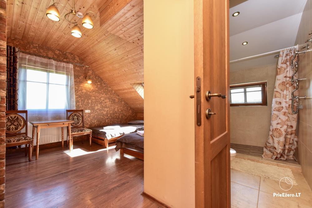 Villa for rest and celebrations - Spa Villa Trakai: hall, Jacuzzi and sauna, accommodation - 29