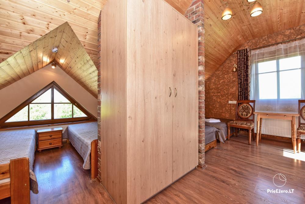 Villa for rest and celebrations - Spa Villa Trakai: hall, Jacuzzi and sauna, accommodation - 27