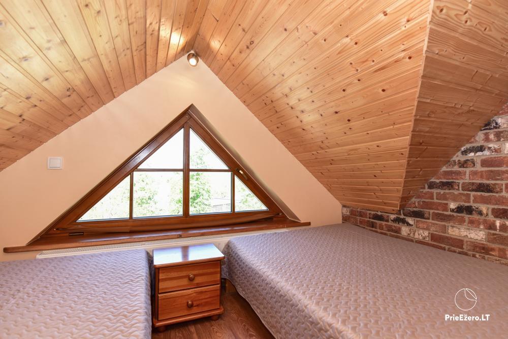Villa for rest and celebrations - Spa Villa Trakai: hall, Jacuzzi and sauna, accommodation - 28