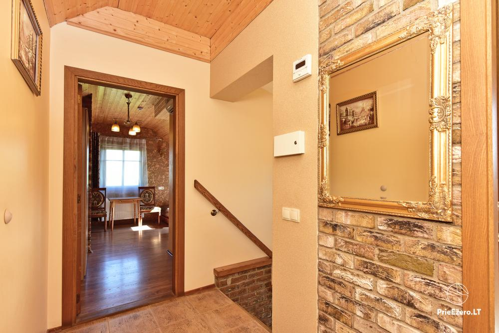 Villa for rest and celebrations - Spa Villa Trakai: hall, Jacuzzi and sauna, accommodation - 23