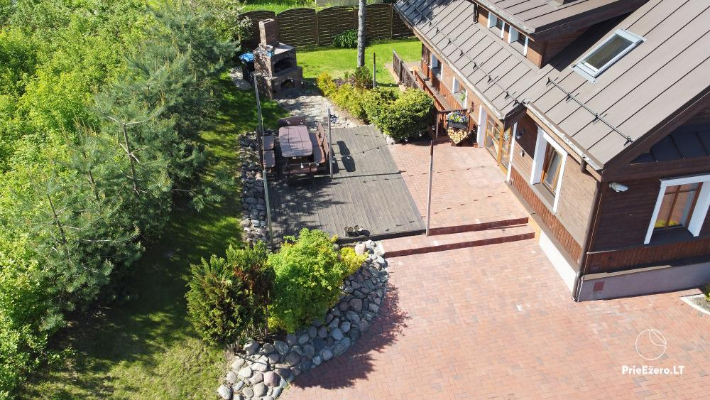 Villa for rest and celebrations - Spa Villa Trakai: hall, Jacuzzi and sauna, accommodation - 8