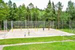 """Beach volleyball court in Holiday home """"Sienainis"""""""