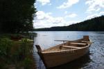 """Łodzie, łowienie ryb w jeziorze w Gospodarstwe w rejonie Trockim """"Royal villa"""""""