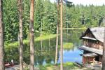 Летний дом с баней и спальнями на озере Плателяй в комплексе отдыха Saulės slėnis