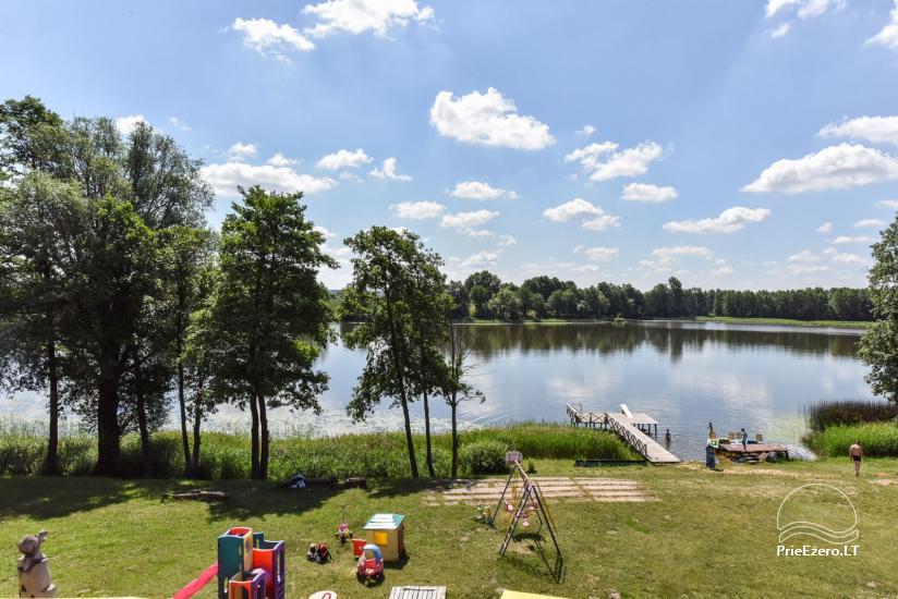 Kawiarnia Kurėnų užeiga na brzegu jeziora w rejonie Ukmergė - 17