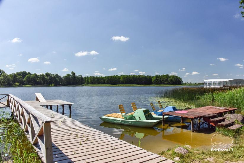 Kawiarnia Kurėnų užeiga na brzegu jeziora w rejonie Ukmergė - 19