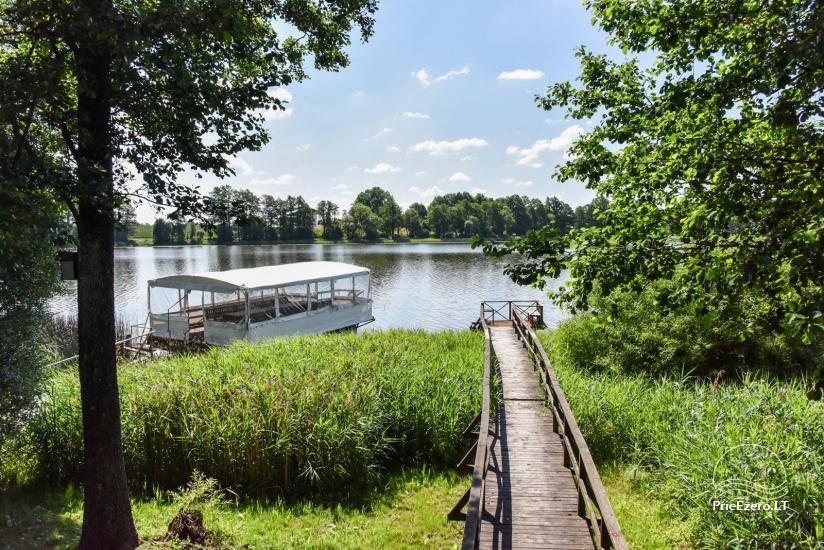 Kawiarnia Kurėnų užeiga na brzegu jeziora w rejonie Ukmergė - 21