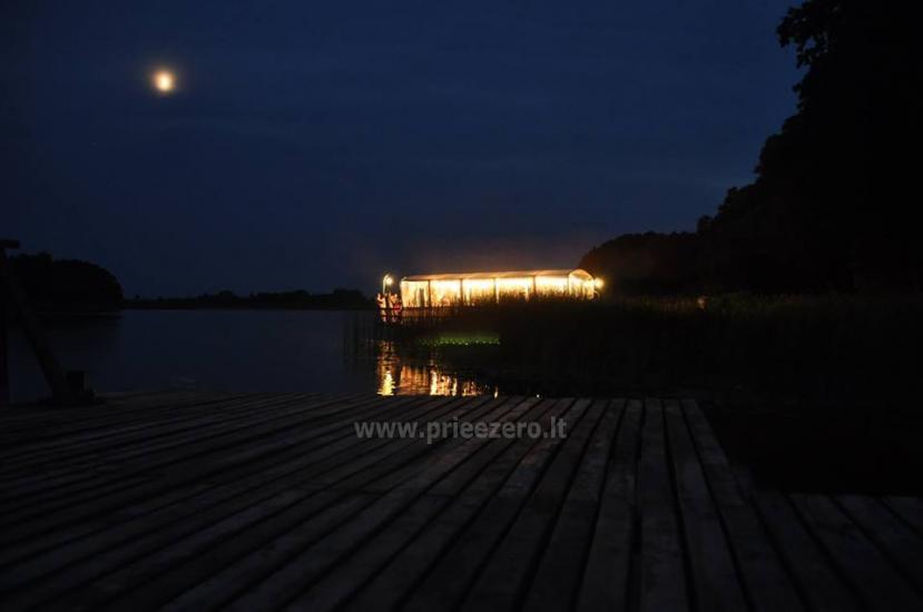 Kawiarnia Kurėnų užeiga na brzegu jeziora w rejonie Ukmergė - 22