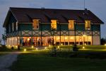 Bathhouse with hall, heated swimming-pool, rooms for stay in homestead near Klaipeda Zupe