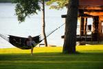 "Sauna in countryside tourism complex in Trakai region on the shore of the lake ""Margio krantas"""