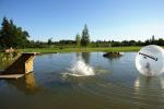 Bathhouse, hot water tub, pond in Homestead Zinenai 28km from Siauliai - 3