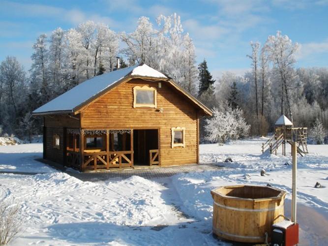 Bathhouse, hot water tub, pond in Homestead Zinenai 28km from Siauliai - 14