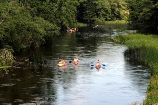 Landtourismus in Utena Bezirk am Fluss Sventoji Degesine - 1