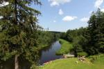 Landtourismus in Utena Bezirk am Fluss Sventoji Degesine - 3