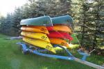 Canoe for rent in homestead at the lake Dviragis