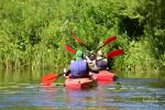 Kayak trips along the riever Šventoji, Klaipėda county, Lithuania