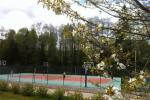 "Tennis court in Homestead near the lake Plateliai ""Saules slenis"""
