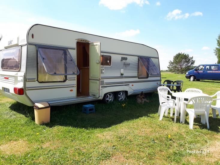 Campsite DRŪTŪNŲ BAIDARĖS in Ignalina area near the lake