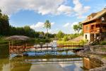 Villa with a sauna and bedrooms on the shore of a water pond - 14